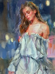 Just a Memory I by Anna Razumovskaya - Original Painting on Stretched Canvas sized 18x24 inches. Available from Whitewall Galleries